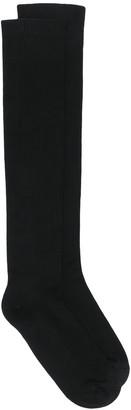 Rick Owens Logo Knee-High Socks
