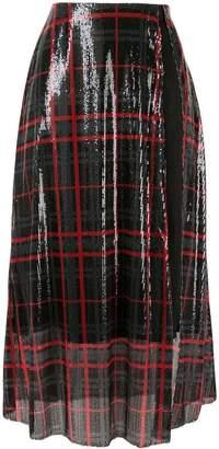 Yang Li Sequinned Tartan Skirt