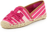 Tory Burch Shaw Canvas Espadrille Flat