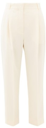 See by Chloe High-rise Cropped Crepe Trousers - Ivory