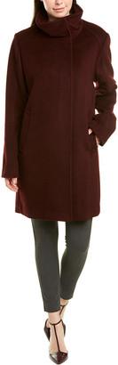 Cole Haan Wool-Blend Topper Coat