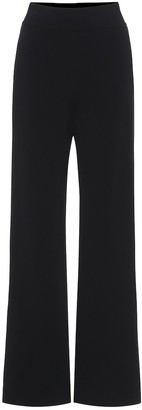 Alaia Knit high-rise wide-leg pants