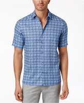 Alfani Men's Geometric Print Stretch Shirt, Only at Macy's
