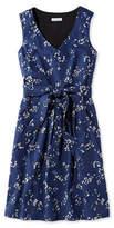 L.L. Bean The Signature V-Neck Poplin Dress, Night Print