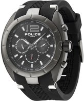 Police Men's Interceptor X PL.12676JISU/02 Rubber Quartz Watch with Dial