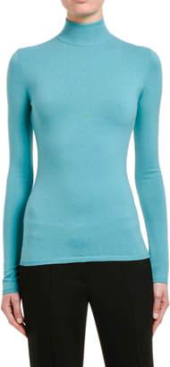 Max Mara Kipur Wool Turtleneck Sweater, Turquoise