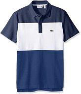 Lacoste Men's Short Sleeve Color Block Textured Pique Polo
