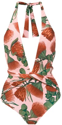 Adriana Degreas Twisted Detail Swimsuit