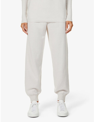 Johnstons Josephine Easy relaxed mid-rise wool jogging bottoms