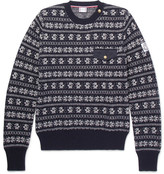 Moncler Gamme Bleu Fair Isle Wool-blend Sweater