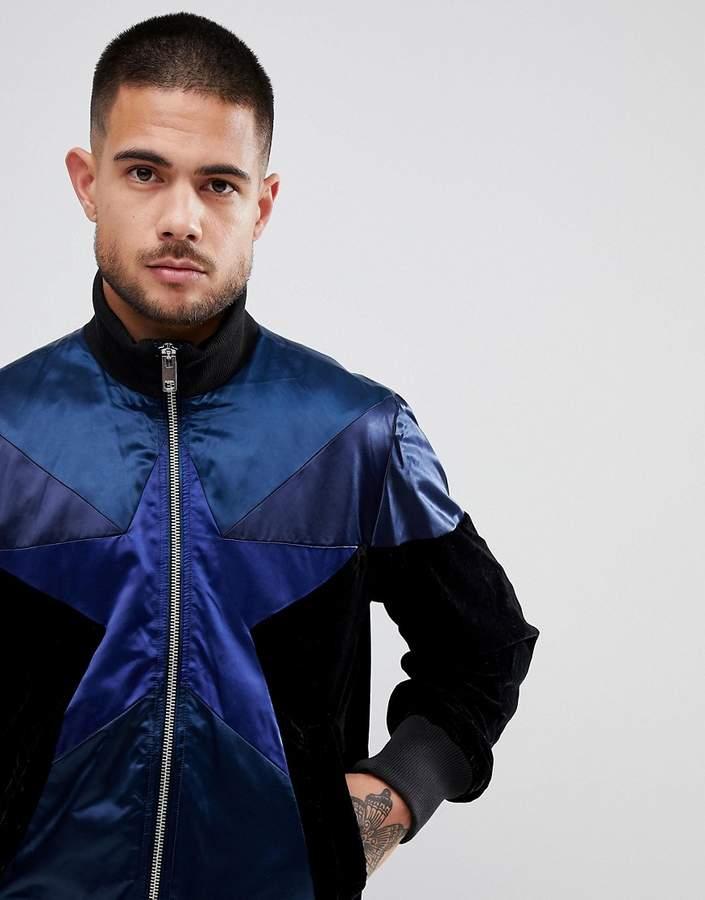 Diesel J-CLUB Star Satin Velvet Jacket