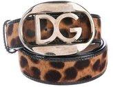 Dolce & Gabbana Logo Ponyhair Belt