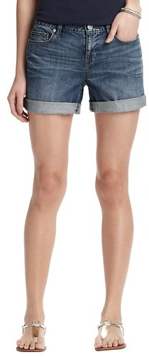 "LOFT Petite Denim Roll Shorts in Seaside Blue with 3 1/2"" Inseam"