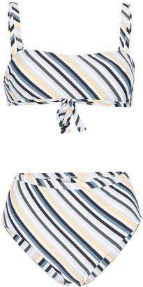 Asceno striped bandeau bikini