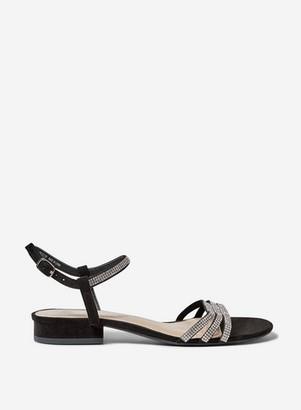 Dorothy Perkins Womens Wide Fit Black 'Soo' Heeled Sandals, Black