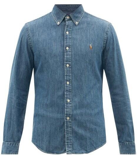 08020a8d Chambray Shirt Ralph Lauren - ShopStyle
