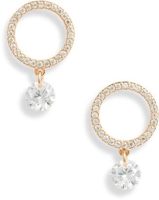 Nordstrom Open Circle Drop Earrings