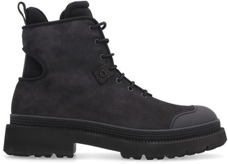 Salvatore Ferragamo Leather Lace-up Boots