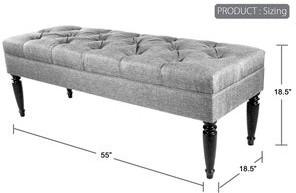 Mjl Furniture Designs CLAUDIA Diamond Tuft Nova Camel Nail Trim Edge Upholstered Long Bench