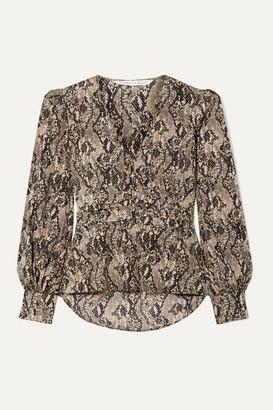 Veronica Beard Thea Snake-print Stretch-silk Chiffon Blouse - Snake print