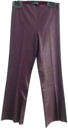By Malene Birger Burgundy Leather Trousers