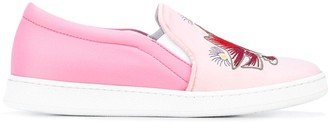 Joshua Sanders Embroidered Slip-On Sneakers