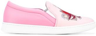 Joshua Sanders embroidered slip-on sneakers