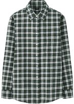Uniqlo Women Flannel Check Long Sleeve Shirt