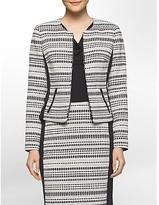 Calvin Klein Interwoven Textured Cropped Jacket