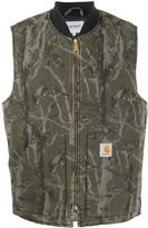 Carhartt Wip camouflage print zipped vest