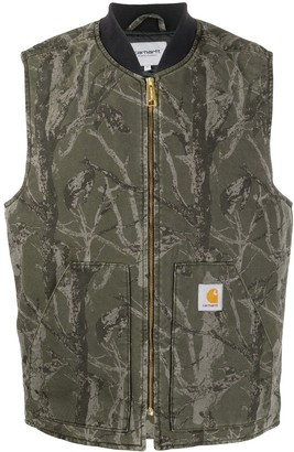 Carhartt Wip Camouflage Print Zipped Vest