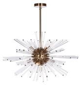 Aidan Gray Kepler 9 - Light Sputnik Sphere Chandelier with Glass Accents Finish: Antique Brass