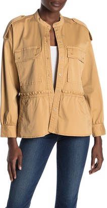 Joie Rajan Ruffled Snap Canvas Jacket