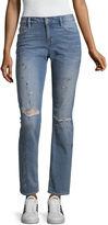 Arizona Paint Splatter Jeans-Juniors