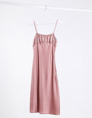 Lola May rouched cami dress in midi