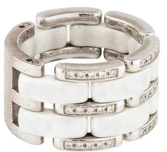 Chanel 18K Diamond Ceramic Ultra Ring