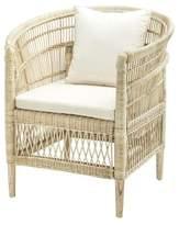 """Eichholtz Togo Rattan 30"""" Barrel Chair"""