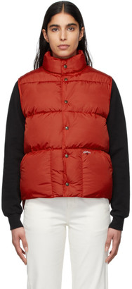 Noah NYC Red Cashball Down Puffer Vest
