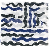 Burberry striped semi-sheer scarf