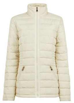 Dorothy Perkins Womens Tall Cream Padded Jacket With Recycled Wadding, Cream
