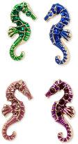 Betsey Johnson Gold-Tone 4-Pc. Colored Seahorse Stud Earrings Set