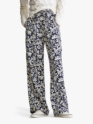 Ralph Lauren Polo Floral Print Trousers, Navy
