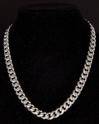Italian Silver Miami Cuban Link Necklace