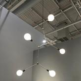 Menu TR Bulb Series 5 - Light Sputnik Modern Linear Chandelier Finish: Black