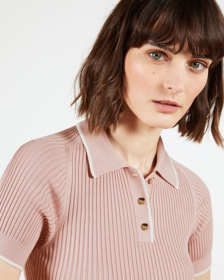 Thumbnail for your product : Ted Baker Knitted Polo Top