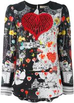 Piccione Piccione Piccione.Piccione heart print blouse