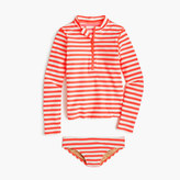 J.Crew Girls' rash guard swim set in stripe