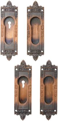 Rejuvenation Incredible Cast Pocket Door Pulls w/ Japanned Copper Finish
