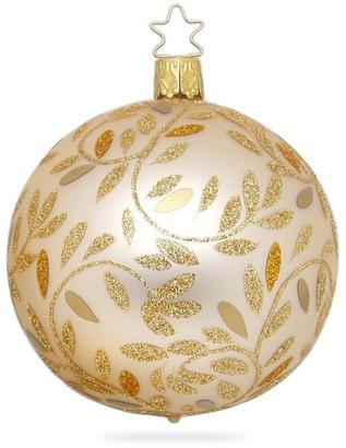 Inge's Christmas Decor Delights Glitter Metallic Glass Ball Ornament