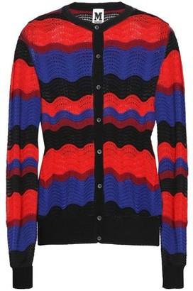 M Missoni Color-block Pointelle-knit Cardigan